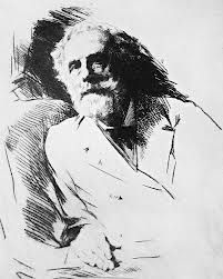 George Meredith aet 72 - dry point etching by Mortimer Menpes