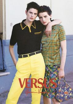 VERSUS by GIANNI VERSACE featuring STELLA TENNANT & MICHELE HICKS photographed by BRUCE WEBER