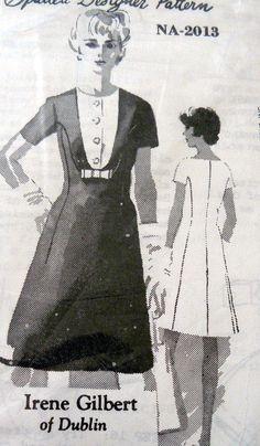 LOVELY VTG 1960s DRESS SPADEA DESIGNER IRENE GILBERT Sewing Pattern 14/36