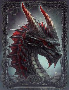 New Skin design by Kerem Beyit: Black Dragon Mythical Creatures Art, Mythological Creatures, Fantasy Creatures, Dragon Tales, Beautiful Dragon, Dragon's Lair, Dragon Artwork, Dragon Eye, Dragon Blood