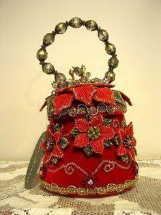 Mary Frances Holiday Bell Christmas Handbag Purse Never Used 02 03 2017