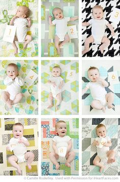 Documenting Baby's Growth with Monthly Photos via I Heart Faces