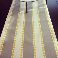 TABLE RUNNER 13 X 72 GRAY Yellow Table By SayItWithPillows | Kitchen |  Pinterest | Yellow Table And Grey Yellow