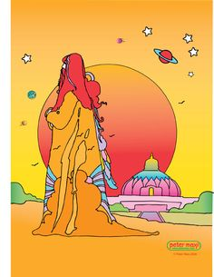 Pop artist icon Peter Max created this poster of Swami Satchidananda and the LOTUS for the 20th anniversary of the LOTUS (www.lotus.org).