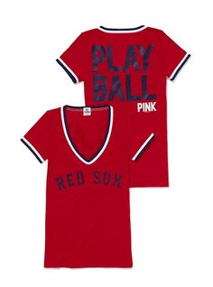Love this!! Victoria's Secret Pink line Boston Red Sox shirt!