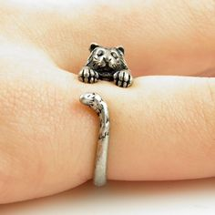 #KejaJewelry on Artfire   #ring                     #Silver #Tiger #Wrap #Ring                          Silver Tiger Wrap Ring                              http://www.seapai.com/product.aspx?PID=763518