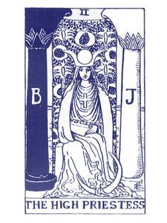 The High Preistess Tarot Card --> http://All-About-Tarot.com <--