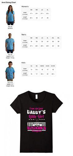 Women's Daddy's Little Girl Veteran's Daughter T Shirt XL Black