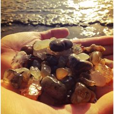 Agate hunting... Newport, Oregon Jessica ALWAYS find ones the size of golf balls every time we go.