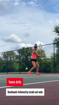 Backhand followed by inside out wide
