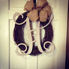 Grapevine Initial Wreath
