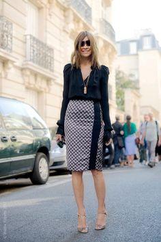 Look de trabalho: saia l´spis e camisa com muito estilo e personalidade!