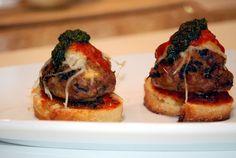 COMFORT BITES | Mini Meatball Crostini Bites