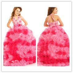 Find More Flower Girl Dresses Information about 2015 Cute Flower Girl Dresses Ball Gown Neck With Ruffles And Pleated Tulle Floor Length Cheap Girl's Pageant Dresses Gowns AB65,High Quality dresses for the wedding party,China dresses korea Suppliers, Cheap dresses for cheap prices from Suzhou Romantic Wedding Dress Co. Ltd on Aliexpress.com