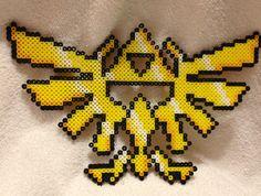 Zelda Triforce Crest- Perler Bead Art. $15.00, via Etsy.