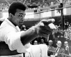 """Ali in Atlanta, 1970.       Larry Bird:  """"To say you are 'The Greatest' and then back it up is not only a sign of self-confidence but of having the talent and will to do it."""""""