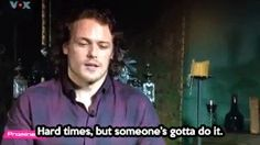 "(gif) - Sam: ""Yep, it was hard, having to kiss Cait, with her being a former Victoria's Secret model, a supermodel. So yes, it was difficult, but my friends really supported me, especially during the casting when I had to kiss so many women. Hard times, but someone's gotta do it."""