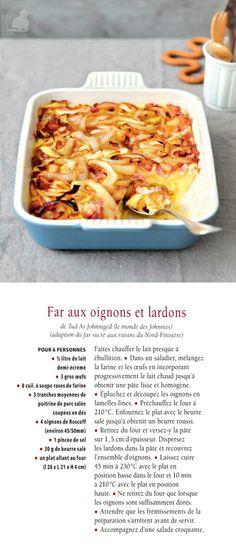 Far aux oignons de Roscoff et lardons. Recette de Tud Ar Johnniged - Photo Nathalie Carnet/Maisons Côté Ouest
