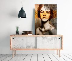 She v7 Collage face design woman glance retro por SoulArtCorner