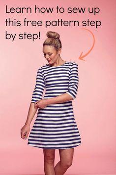 brigitte dress free pattern & instructions