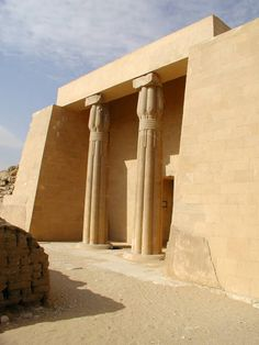 The private tomb of Ptahshepses a vizier and judge in the reign of Sahure.
