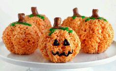 Pumkin rice krispy treats.
