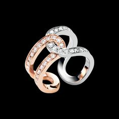 Rose and White Gold Diamond Ring G34PZ200 - #Piaget Luxury Jewelry Online