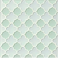 Found it at Wayfair - Mallorca Glass Flora Mosaic Tile in White Linen and Green