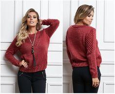 Suéter em Tricô com a Lã Seda! ~ Armarinho São José