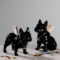 French bulldog sitting, money box black, height 17 cm On the right of the photo inches centimeters) Fast shipping and Love French, Money Box, Lion Sculpture, Black, Buldog, French Bulldogs, London, French Bulldog Cost, Black People