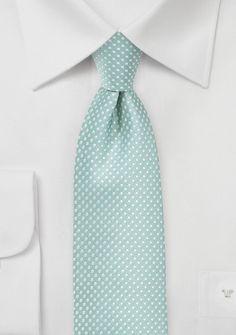Narrow Pin Dot Tie in Soft Mint Green | Bows-N-Ties.com