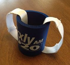 foam can holder with 2 large loops made of webbing added
