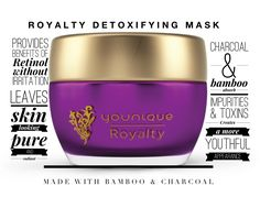 Younique Royalty Detoxifying Mask is great at pulling the toxins out of your skin.