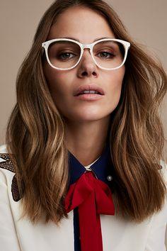 afbaeea3da80 Maripier Morin wearing Nadine Oyster frames from Maripier X BonLook  collection Round Eyeglasses, Eyeglasses For