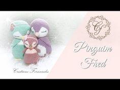 PINGUIM FRED - AMIGURUMI - YouTube Amigurumi Toys, Crochet Patterns Amigurumi, Crochet Blanket Patterns, Baby Blanket Crochet, Crochet Toys, Bella Coco, Crochet Videos, Crochet Animals, Mundo Craft