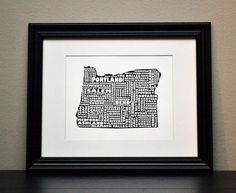 Cities of OREGON Collage Print (OR Customize and Choose Your Own State). $12.50, via Etsy.