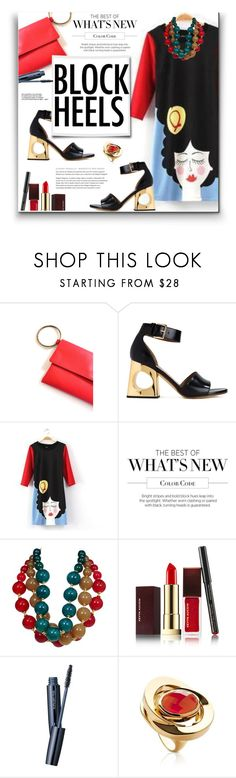 """109. Block Heeled Comfy"" by milva-bg ❤ liked on Polyvore featuring Marni, JVL, ESCADA, Kevyn Aucoin, shu uemura and La Diosa"