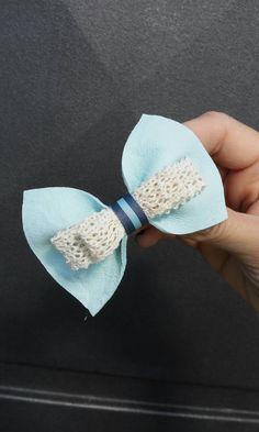 Hair bow Blue Leather bow Hair clip Barrette clip by Zozelarium Barrette Clip, Bow Hair Clips, Hair Bow, Leather Bow, Real Leather, Lace Bows, Pin Up, Hair Accessories, Stud Earrings
