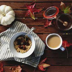 Oatmeal / Image via: Sweet Thing Blog #fall #autumn #cozy