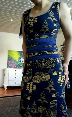 Sielulintu-kangas  versonpuoti  Dress
