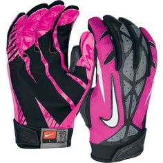 what shows more respect to a girl playing flag football, than when she is wearing pink gloves!