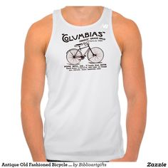 Antique Old Fashioned Bicycle Graphic Art T Shirt