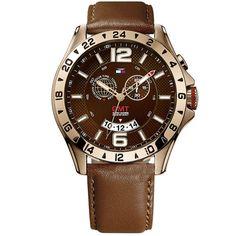 Relógio Tommy Hilfiger Masculino Couro Marrom - 1790974