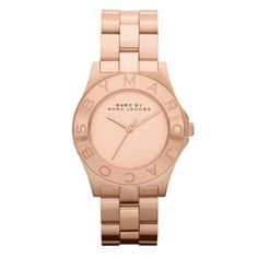 Marc By Marc Jacobs ladies' rose gold plated bracelet watch - Ernest Jones