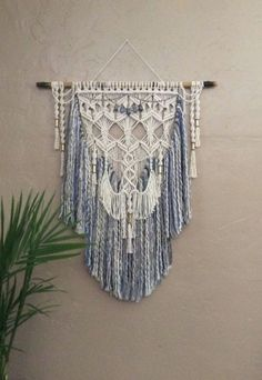 Large Macrame Wall Hanging Tapestry Woven Wall by MacrameElegance Modern Macrame, Macrame Art, Macrame Design, Macrame Projects, Macrame Knots, Yarn Wall Hanging, Large Macrame Wall Hanging, Tapestry Wall Hanging, Wall Hangings