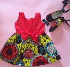 African fashion world has been able to balance the gap between the men and women. Baby African Clothes, African Dresses For Kids, African Attire, African Wear, Baby Girl Dresses, Baby Dress, Ankara Styles For Kids, Ankara Clothing, African Fashion Ankara