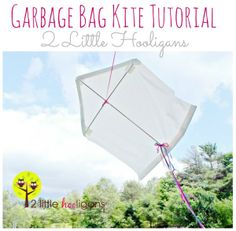 How to Make a Kite using a Garbage Bag by 2 Little Hooligans