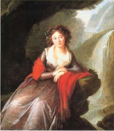 Louise Élisabeth Vigée Le Brun (1755–1842) = Anna Cetner or Zetzner(Anna z Cetnerów Potocka-daughter of Ignazy Cetnerow-polish nobility ad.List of Consort Duces Elbeuf), future Duchess of Elbeuf - Date 1791 oil Current location: Unknown_http://www.batguano.com/vlbpotocka.jpg