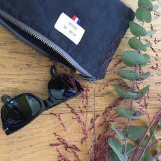 ÉLÉONORE, la pochette en coton recyclé noir délavé - Reine de Bohème