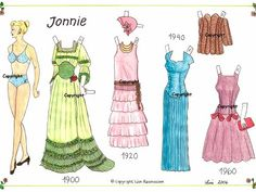 Hjemmetegnede - www.mosterlise.dk Paper Dolls, Pretty Woman, Euro, Summer Dresses, Lady, Clothes, Fashion, Ladybugs, Paper Envelopes